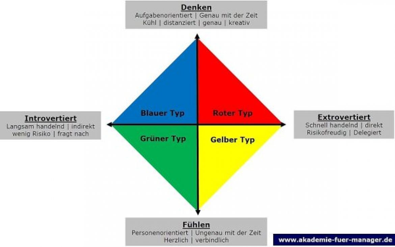 Typenlehre: Professioneller Umgang mit Anderen in Vertrieb, Marketing und Führung: Rot-Gelb-Grün-Blau